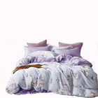 New luxury 40s tencel designs flowers bedding sets with duvet cover organic lyocell bed set