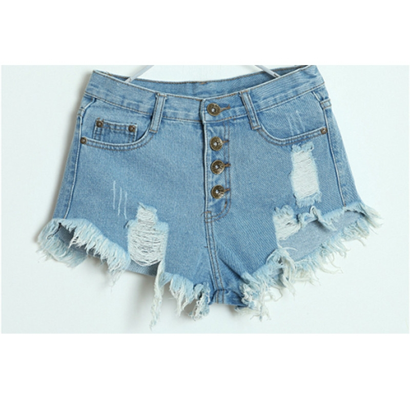 European style different color choice fashion hot sale high waist summer jean pants shorts