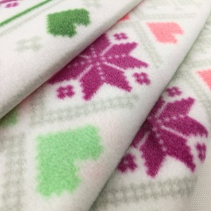 100% polyester fleece printed silk fabric for bed