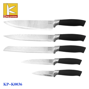 new design kitchen knife set damascus veins on the blade