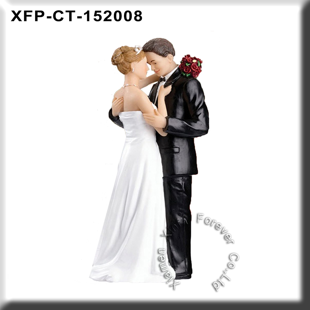 romantic resin wedding cake toppers for wedding anniversary party gift