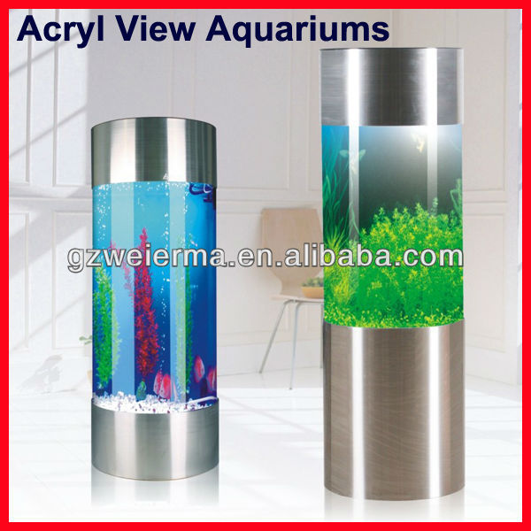 SUNSUN Stainless Steel Acryl View cylindrical Aquarium