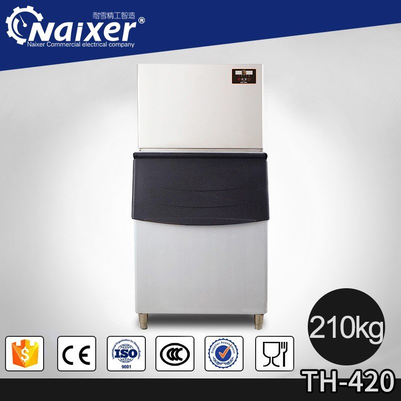 Guangzhou Naixer popular containerized ice block maker 180kg cube ice maker machines R404A ice making machines