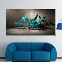 Digital 3D Print Canvas Painting Graffiti china giclee print drop shipping painting in stock