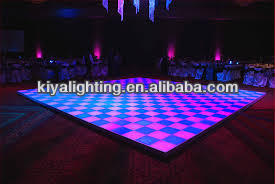 Stage widely used sensitive led dance floor rechargeable for sale