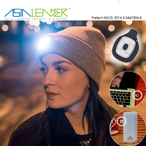b1838605558923 Perfect Hands Free Flashlight for Hunting, Grilling, Running, LED Light  Winter Knitted Hat