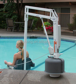 Pool lift model buy handicap pool lift rotating lift table hydraulic lift rotation product on for Hydraulic chair lift for swimming pool