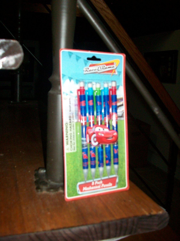 Disney Pixar the World of Cars 5 Pack Mechanical Pencils Race O Rama School Supplies