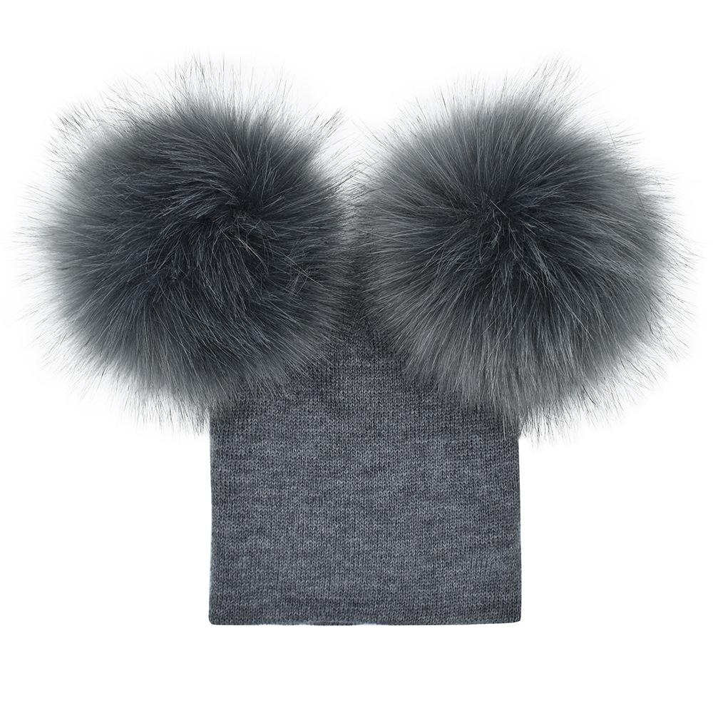507eaf6d8d6 Baby Winter Fur Pompom Hat Faux Fur Pom Poms Beanie Hats For Kids - Buy  Baby Knit Winter Fur Hats