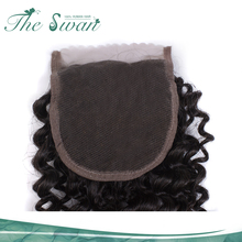 Natural color 10A kinky curly 4x4 Lace Closure hair wigs for men in karachi