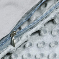 Soft Breathable and Fade Resistant Silver Grey Dot Minky Duvet Cover Heavy Blanket