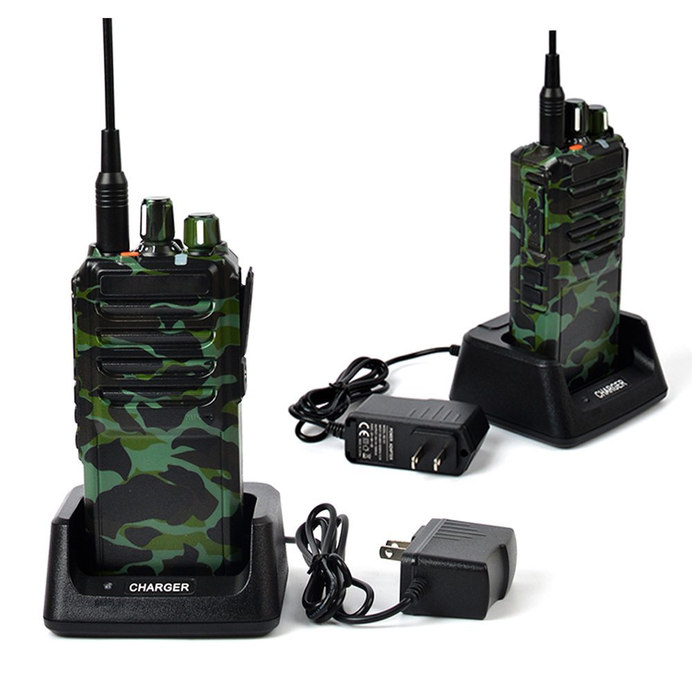 TWAYRDIO 25W/10W Ultra-high Output Power Amateur Handheld Transceiver UHF 400-480MHz Two Way Radio 16 Channel Walkie Talkie with 4000mAh Battery Programming Cable 2Pack