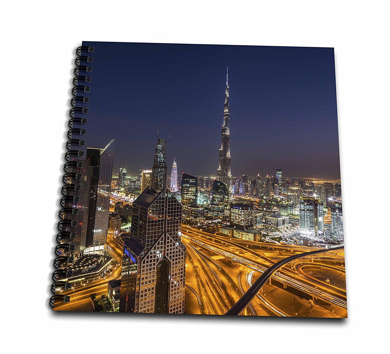 Cityscape of Colorful Dubai Marina at Night UAE 3dRose Danita Delimont - T-Shirts Cities