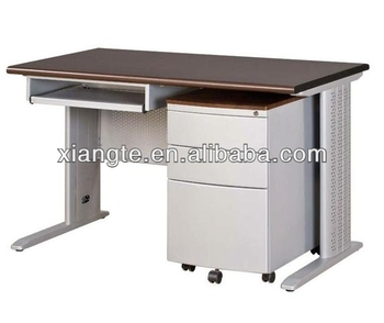 Simple Design Metal Office Table With Drawers And Keyboard Tray Steel Computer Desk