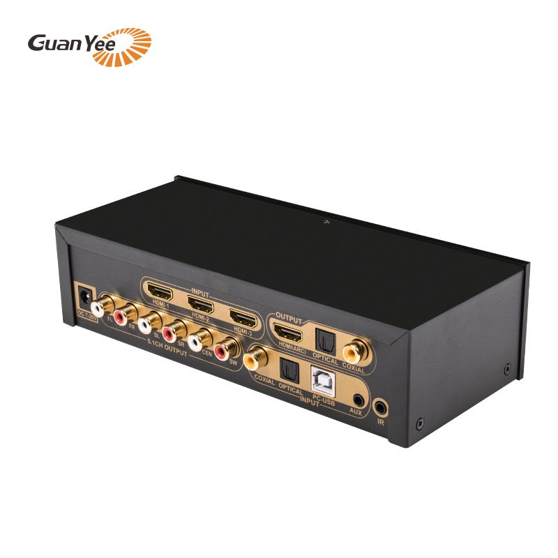 Coaxial fiber coaxial 5.1 decoding HDMI digital audio separation system