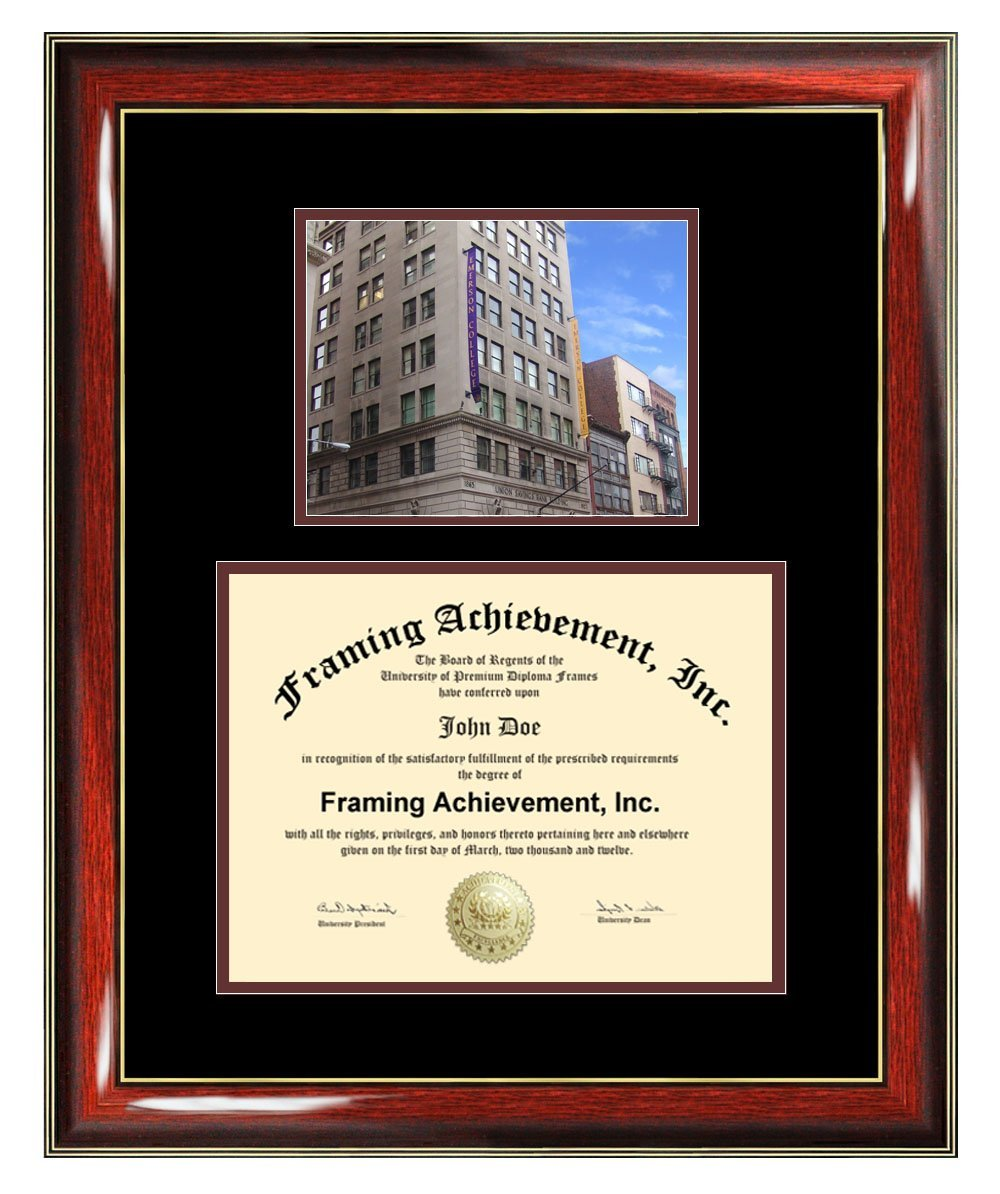 Emerson College Diploma Frame - Emerson Graduation Degree Frame - Matted Campus College Photo Graduation Certificate Plaque University Framing Graduate Gift Collegiate