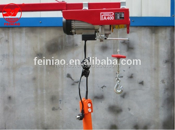220v 400kg Wire Rope Electric Hoist