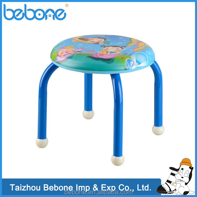 Hot China Products Wholesale Colorful Cartoon Dinning Metal baby dwarf chair