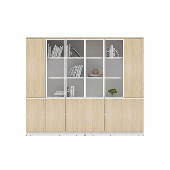 Office Furniture Wooden Glass Door File Cabinet