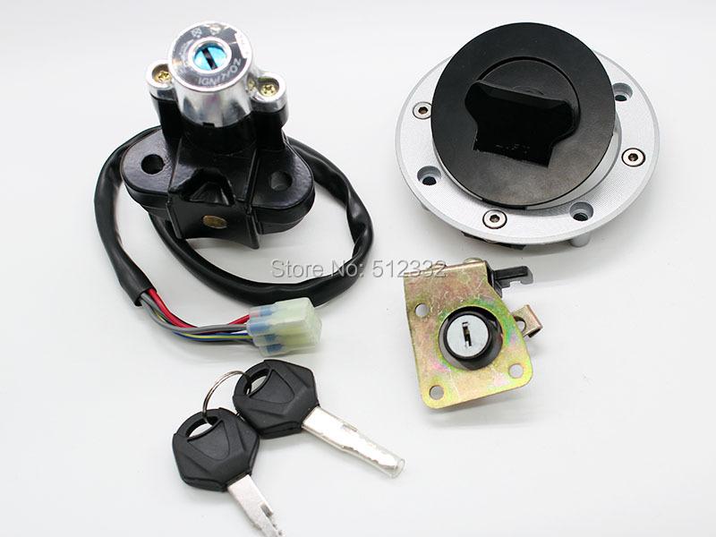 Замок зажигания газовой шапки сиденья блокировки ключевым Suzuki TL1000R TL1000S GSXR600 750 новый