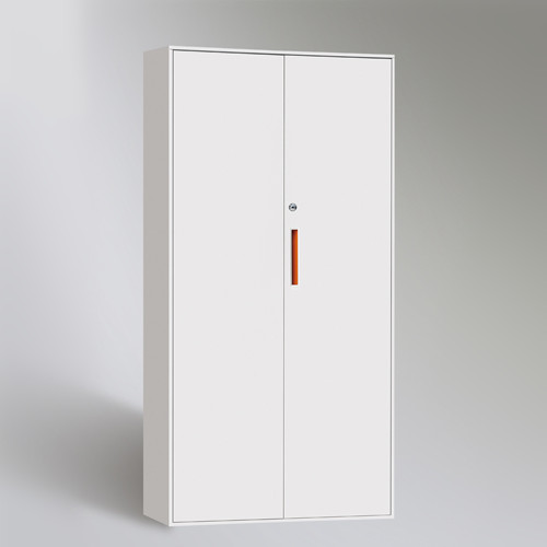 White Color Key Lock Workers Clothes 2 Doors Metallic Storage Lockers