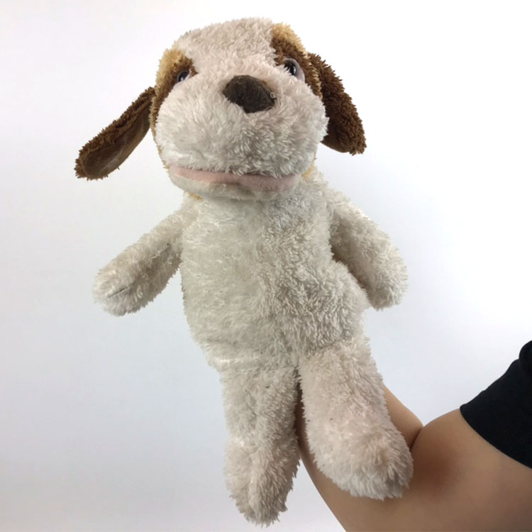 Plush toy dog hand puppet plush animal with sound