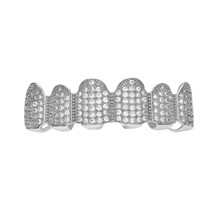 BOAKO хип-хоп золотые зубные грили для мужчин Grillz Bling Zircon Tooth Cap Rapper Teeth grillz Caps Punk Tooth Party Jewelry K5(Китай)