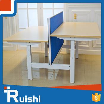 Motorized Electric Height Adjustable Desk Twin Desk Frame Office ...
