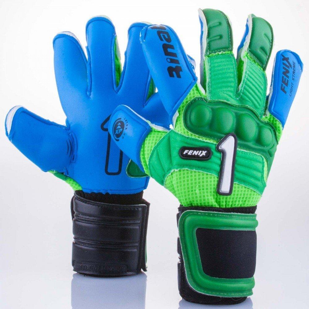 bc13e69b7 Get Quotations · Rinat Soccer Goalkeeper Gloves  Rinat Fenix Prof XP  (Green Blue