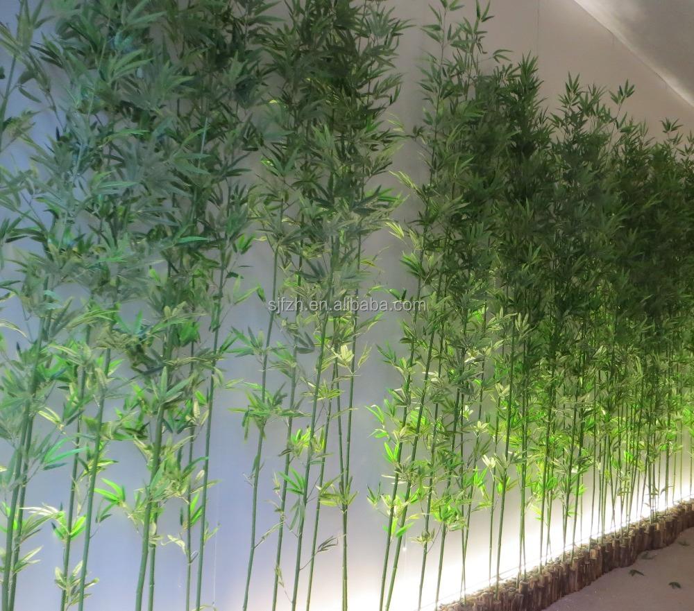 Hete verkoop kunstmatige bamboe boom hoogte 8ft nep bamboe bamboe hek voor hotel decoratie - Bamboe hek ...