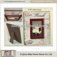 Customized 4x6 tabletop photo picture frame