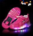 NEW 2016 Child LED Light Wheely s Jazzy Heelys Roller Skate Shoes For Girls Children Kids