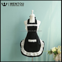 Wholesale Lovely Princess Cotton Working Kitchen Cooking Cook Lace Apron For Ladies