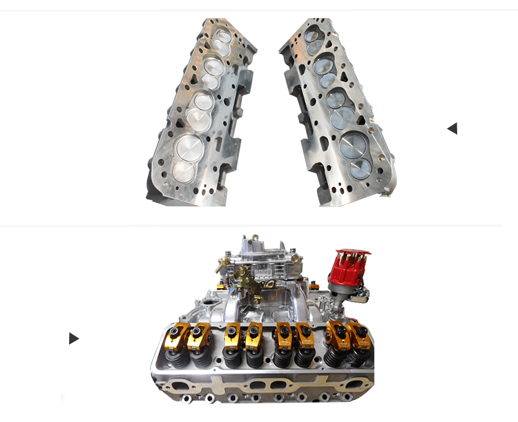 2017 unique V8 Aluminum Cylinder Head for Chevy 350 Small Block (SBC) Complete Cylinder Head for Chevrolet