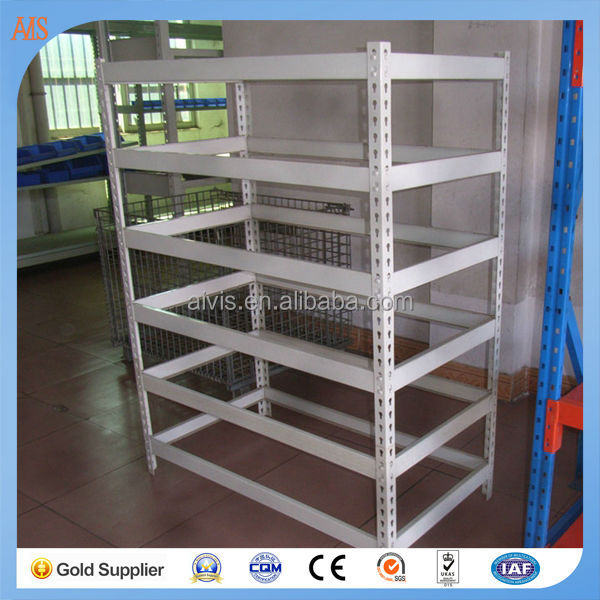 Storage Rack Angle Iron Rack , Light Metal Shelving , Slotted Angle Rack