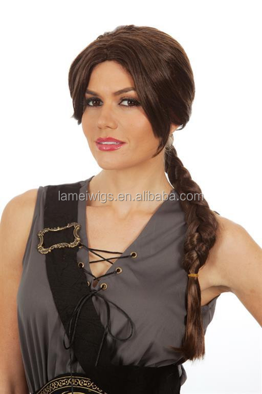 HW0064 fashion synthetic wig for women, brown synthetic wig, braids synthetic wig