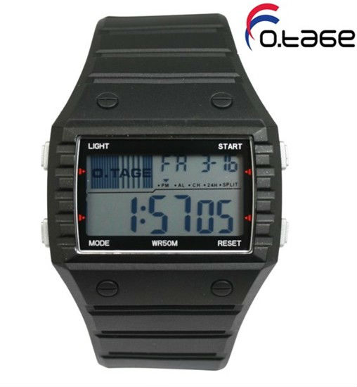 O.TAGE Sport Watches Digit Display Led Light Wide Wrist Band