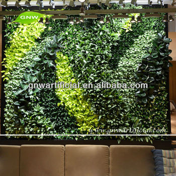 GNW GLW053 Indoor Vertical Garden Landscaping Grass Diy Plastic Fake Live  Wall For Office Decoration
