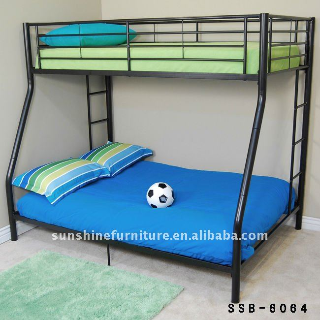 Cheap Durable Heavy Duty Steel Metal Bunk Bed King Size Bunk Bed
