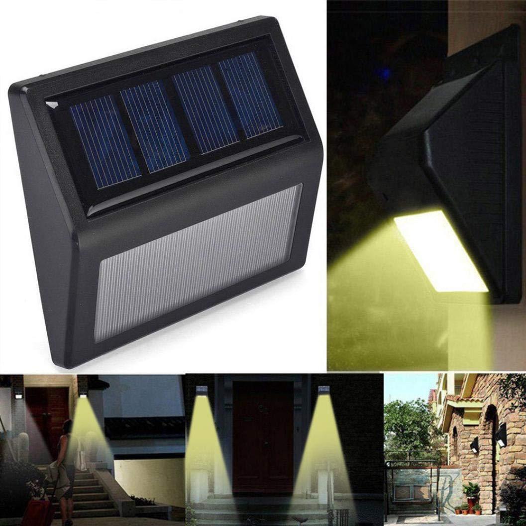 Outdoor Lamps coersd LED Solar Power Light Sensor Wall Light Garden Step Stair Deck Lights Lamp