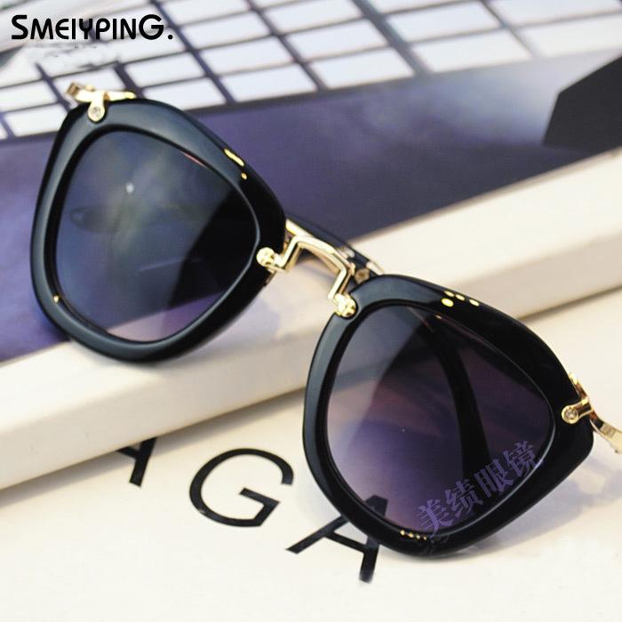 kids sunglasses Fashion Gold Metal leg UV400 2016 Classic designer childred oculos de sol N541