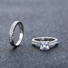 Personalized Jewelry Engagement And Wedding Ring Set