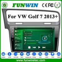 10.2 Inch 2 Din 1024*600 Android 4.4.2 CPU 16 GB Black Screen Car Multimedia Dvd Player OEM For VW Golf 4/7 2013