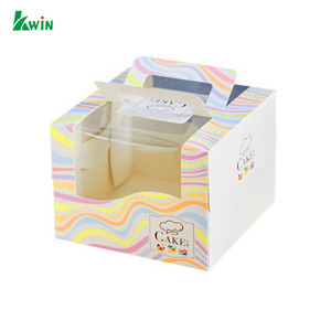 For Custom Small Cardboard Gift Card Wedding Sweet Candy Paper Box With Pvc Plastic Window
