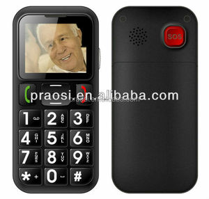 2017 hot selling unlocked bar 3G senior phone with sos emergency button, arabic / hebrew multi languages shenzhen factory