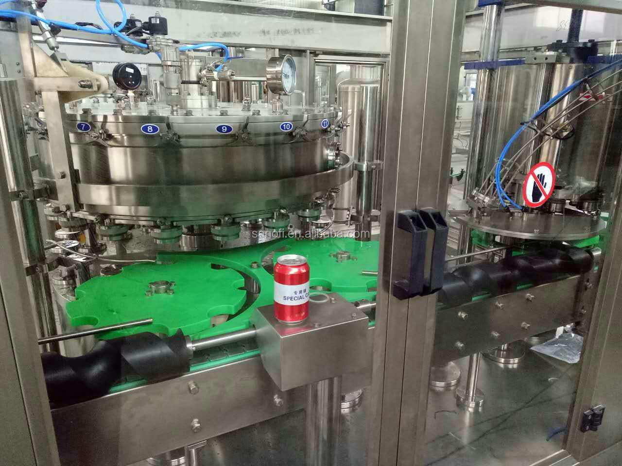 Full Automatic Soft Drinks Canned Filling Machine/Sealing Machine