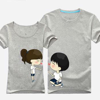 Newest Love Couple T Shirt Korea Design - Buy T Shirt ...