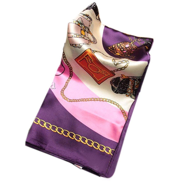 Elaco Fashion Women Big Size 90x90cm Imitated Silk Square Scarf Shawl