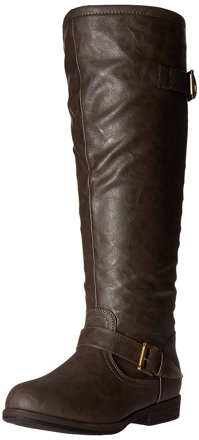 a4980b765f635 Get Quotations · Journee Collection Womens Regular Sized, Wide-Calf and Extra  Wide-Calf Studded Knee