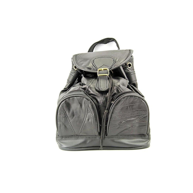 21b60d21df32 Get Quotations · MaxamItalian Mosaic Design Genuine Lambskin Leather  Backpack Purse